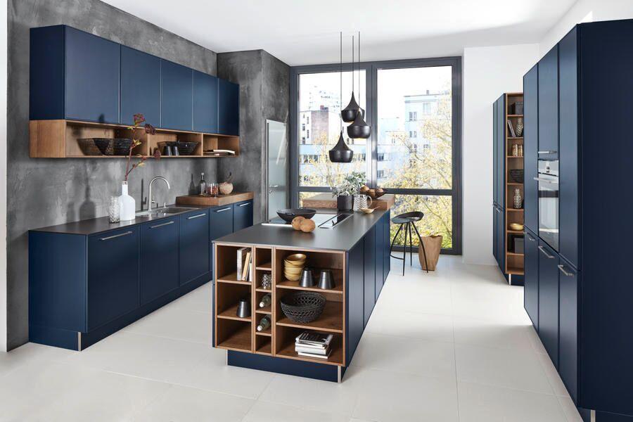 Küche Lack tiefblau Softmatt