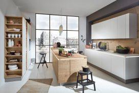 Küche Steineiche / weiss