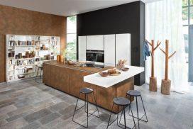 Küche Cortenstahl / Lack weiss