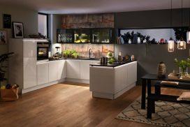 Küche, Glas-Tech-Plus / Hochglanz weiss