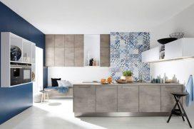Zeitlose Küche, Stone-Beton / Arcticweiss