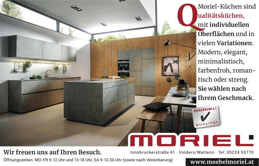 Moriel-Küchen sind Qualitätsküchen