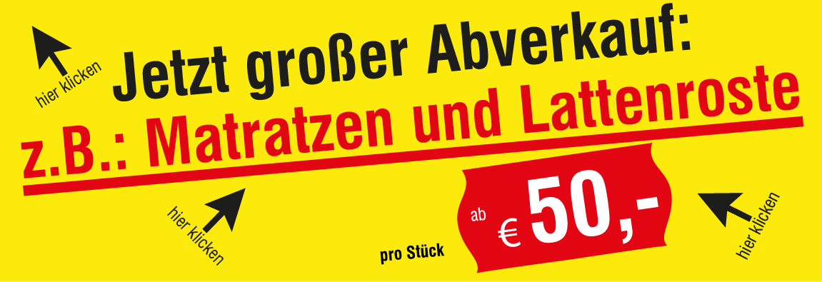 Richtiges Angebot Matratzen und Lattenroste € 50,- pro Stück